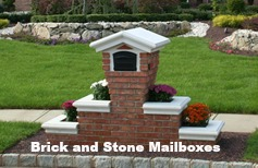 custom stone and brick mailboxes