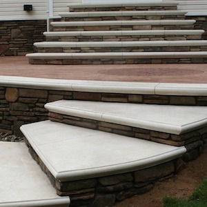 custom concrete stairs by Sanstone Creations