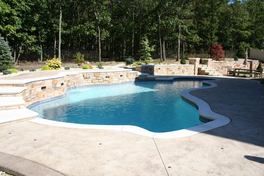 Stamped Concrete Pool Patio - Gallery