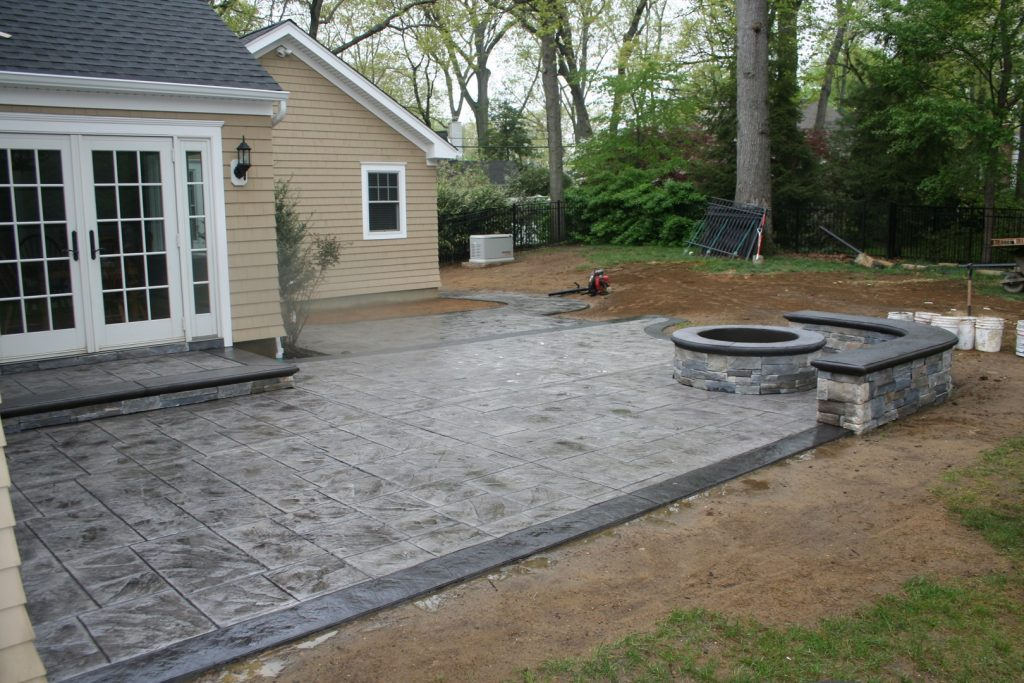 Stamped Concrete Patio & Pit