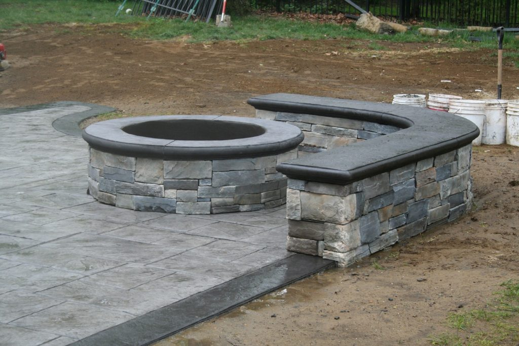 Custom Fire Pit & Seating Wall - Gallery