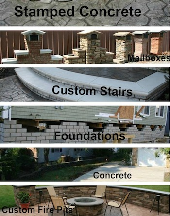 stamped concrete and masonry services in Bay Head NJ