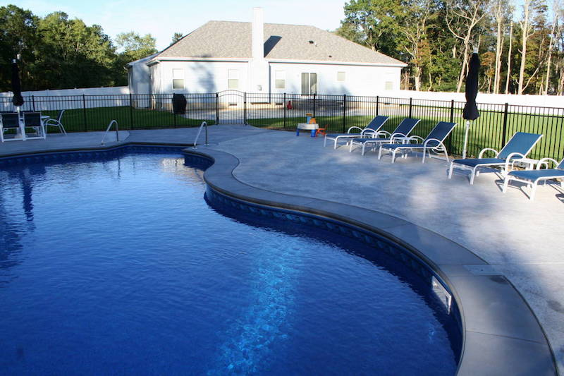 Stamped Concrete Pool Patio. More Stamped Concrete Projects In Our Photo  Gallery And Stamped Concrete Services Page.