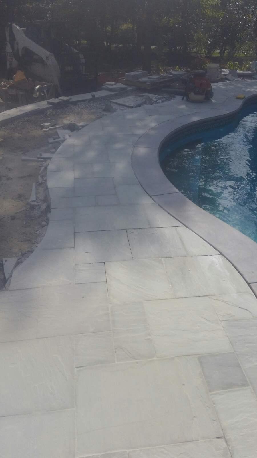 Bluestone Pool Patio Installation