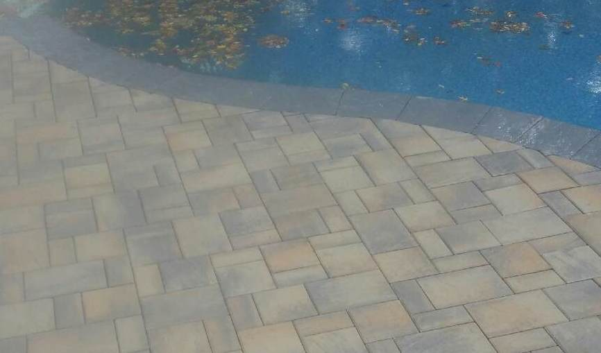 Fall Installation of a Paver Pool Patio