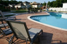 Stamped Concrete Pool Patio Backyard