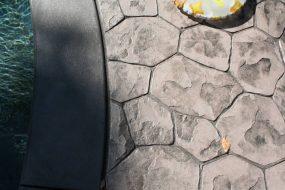 Stamped Concrete Random Stone Pattern Brielle NJ
