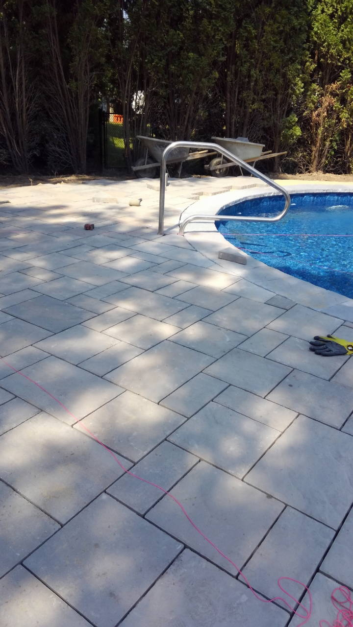 Before Pool Pavers Stone Installation