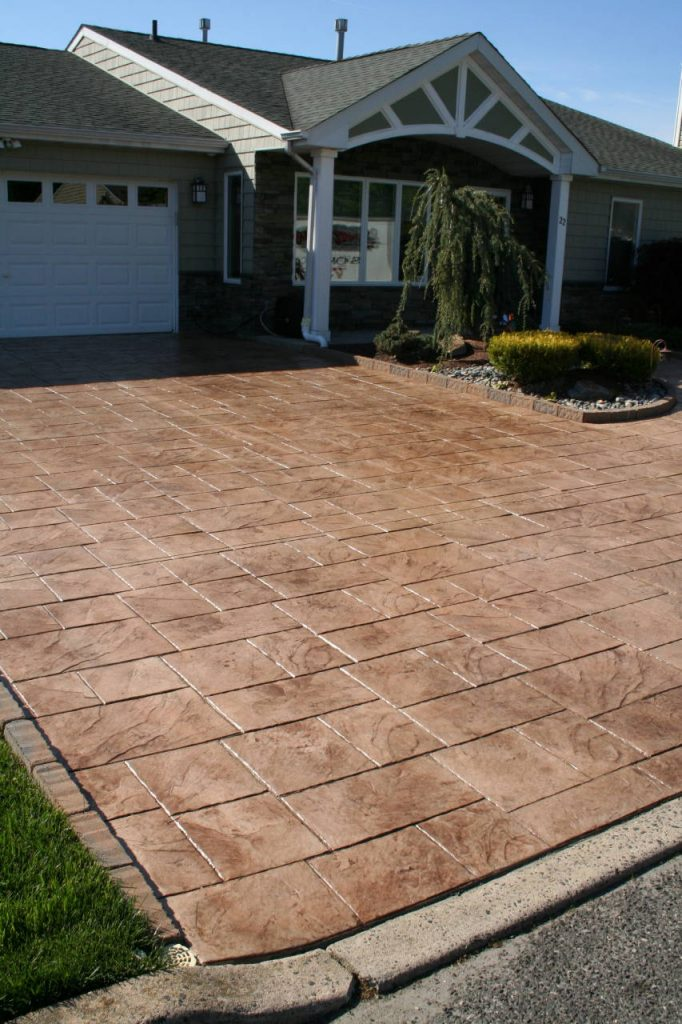 stunning stamped concrete driveway in Tinton Falls NJ