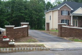 Brick Entrance Walls and Matching Mailbox