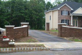brick driveway entrance walls