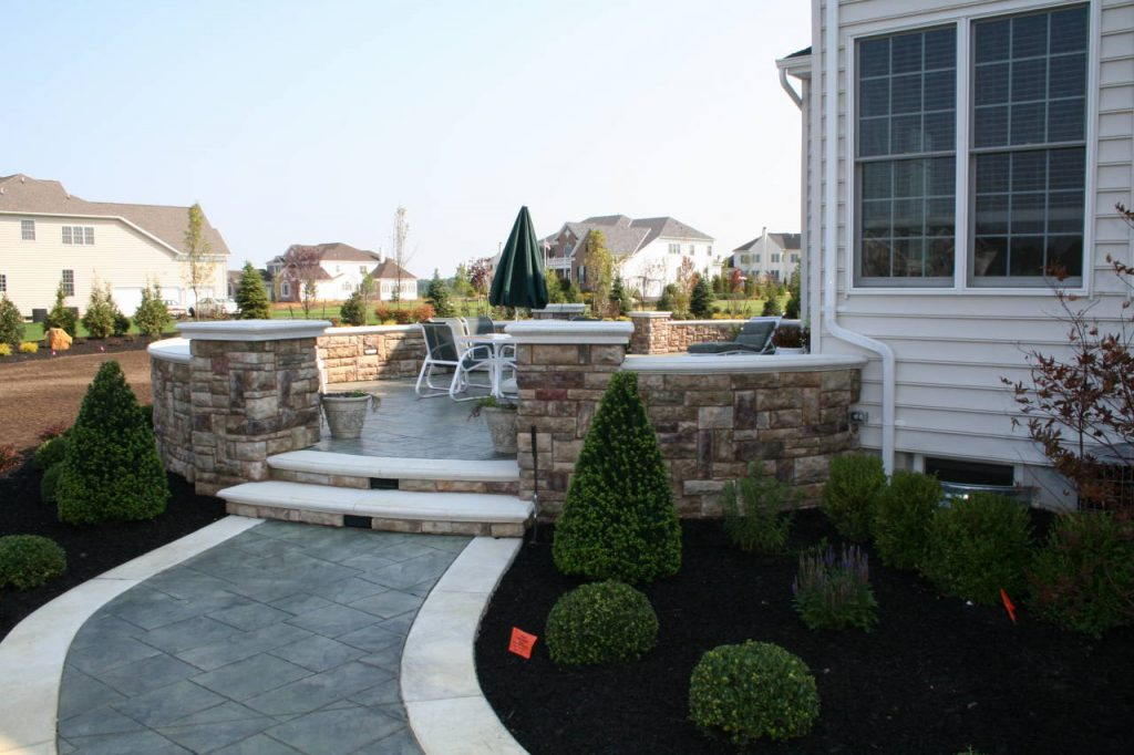 Stone Patio Wall