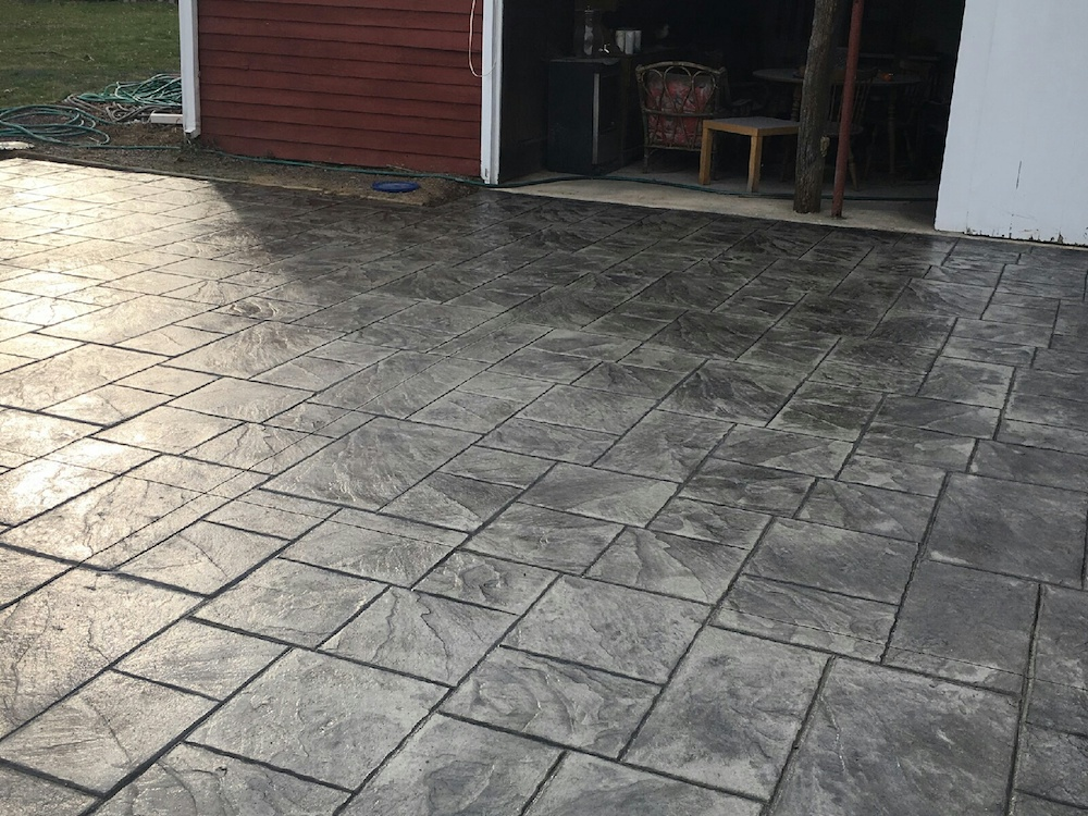 stamped concrete driveway Cream Ridge NJ