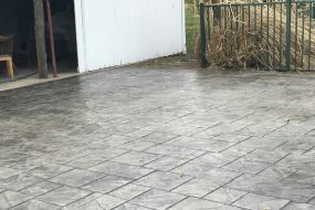 New Driveway - Stamped Concrete