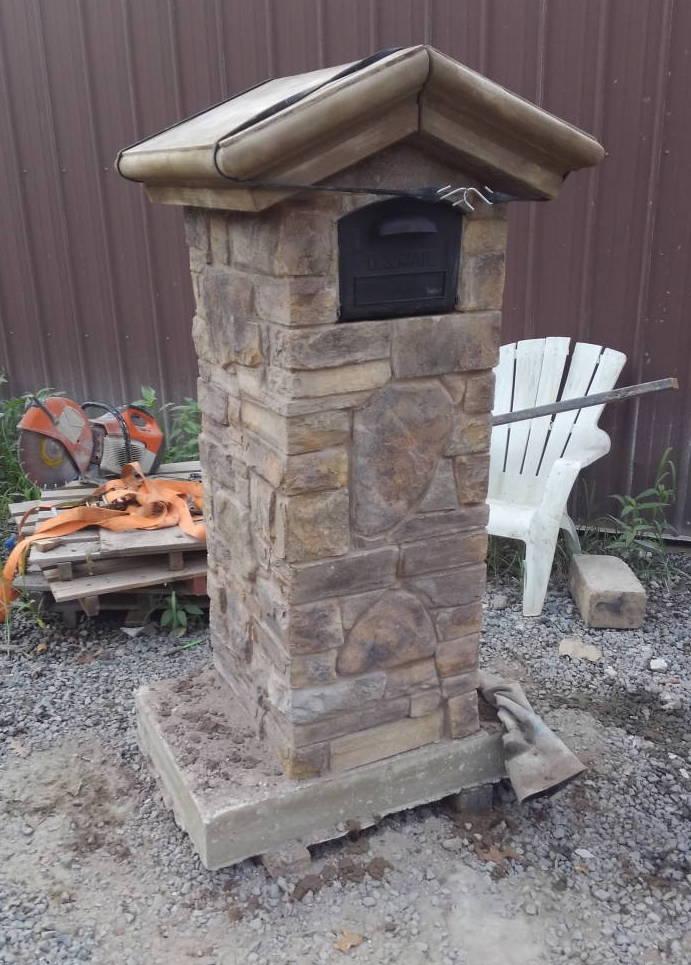 Sandstone Creations Stone Mailbox