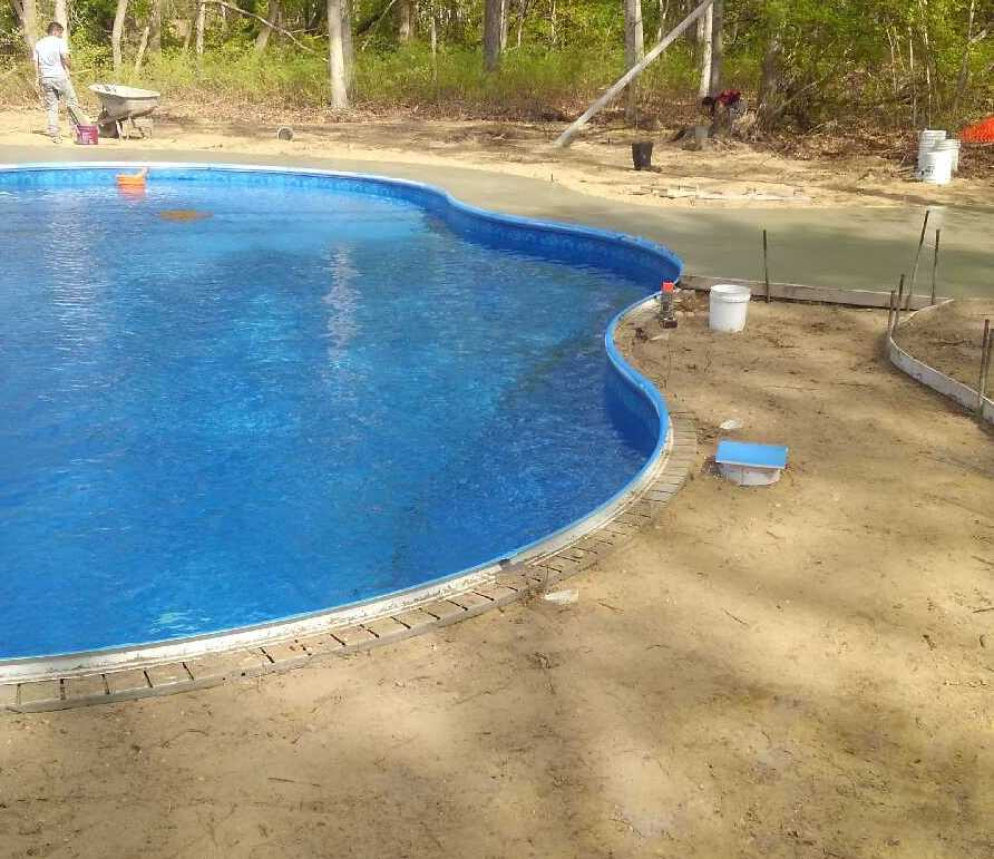 Preparing for the Pool Patio