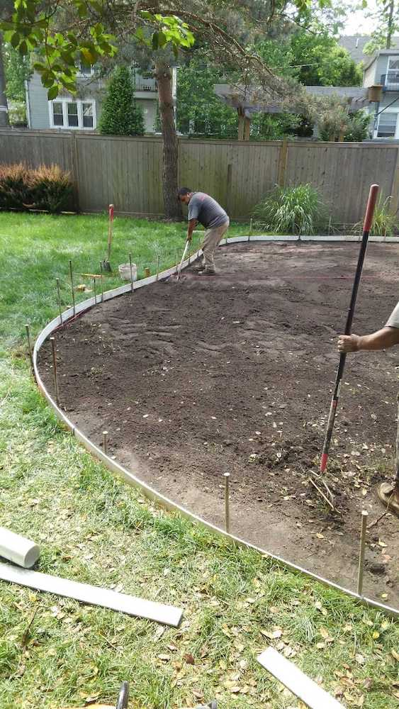 Installation of Stamped Concrete 2018