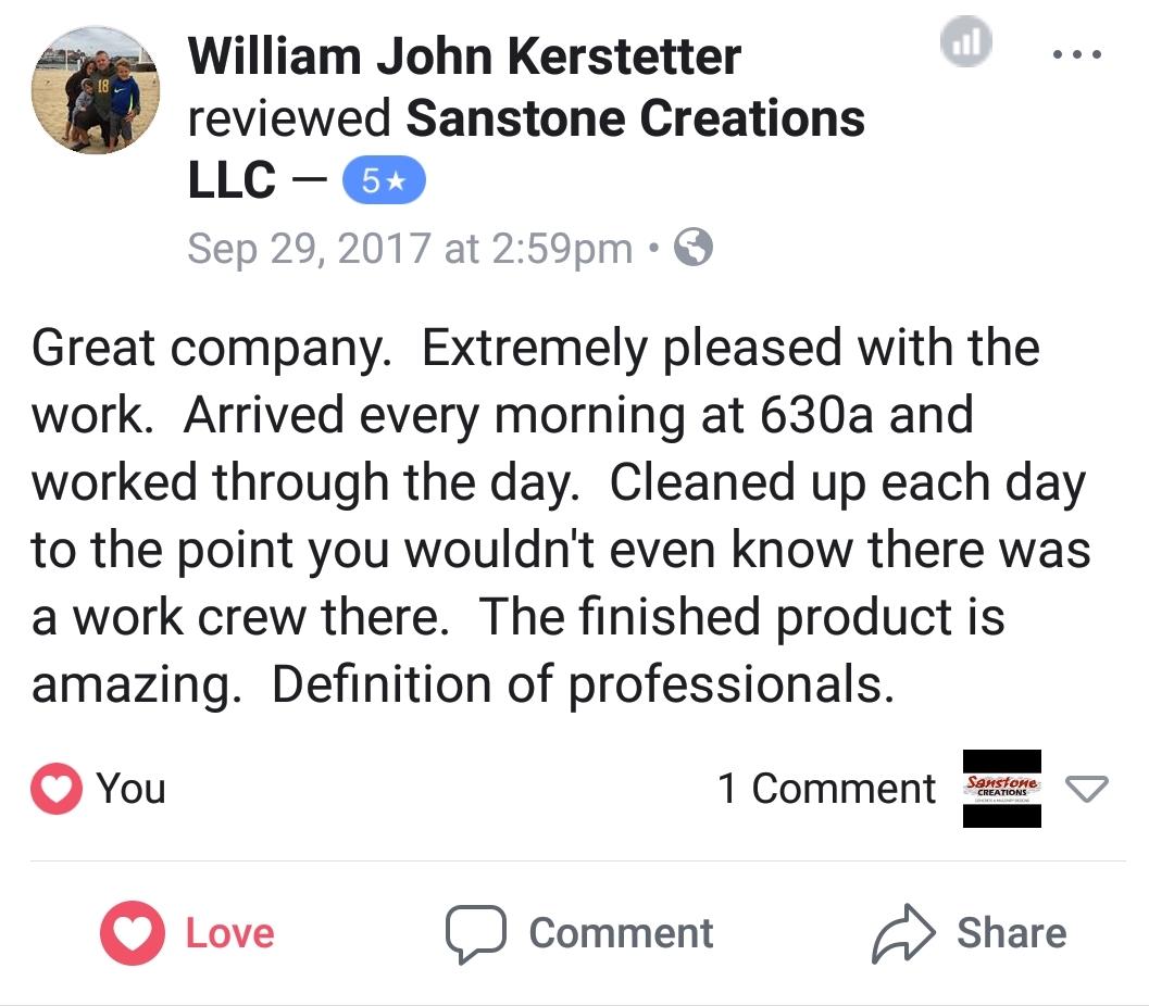 William John Kerstetter Testimonial