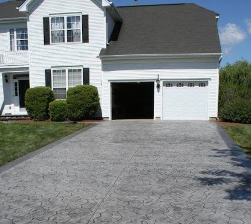 stamped concrete project in Allentown, NJ