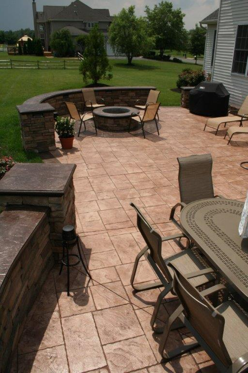 stamped concrete project in Cream Ridge, NJ
