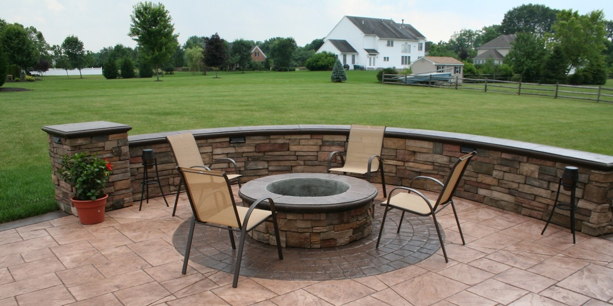 Custom Stamped Patio Fire Pit New Jersey