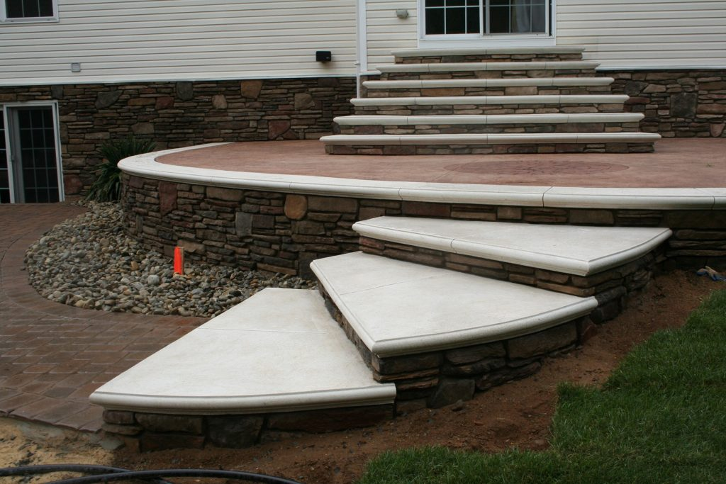 Backyard Patio & Steps