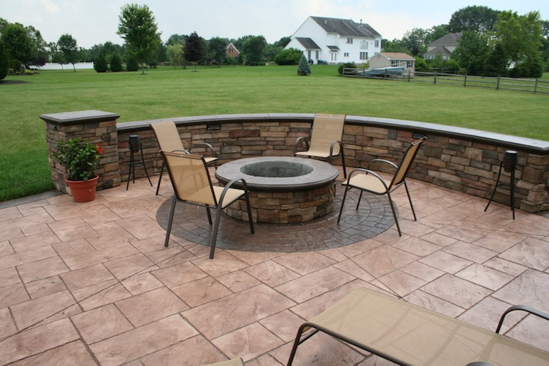 stamped concrete patio services in NJ