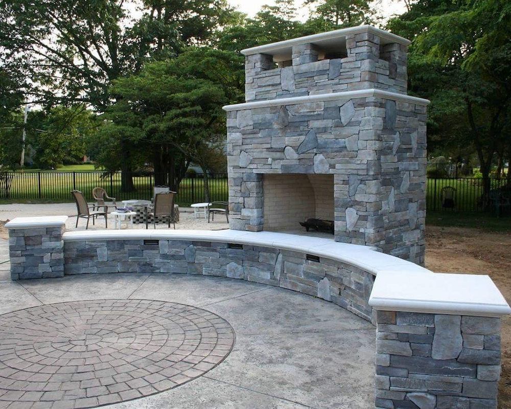 Outdoor Fireplace Wall