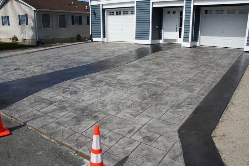 Lanoka Stamped Concrete Driveway with Concrete Walkway
