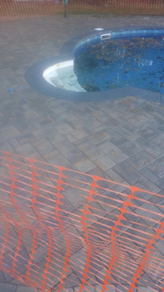 Paver Stone Pool Patio