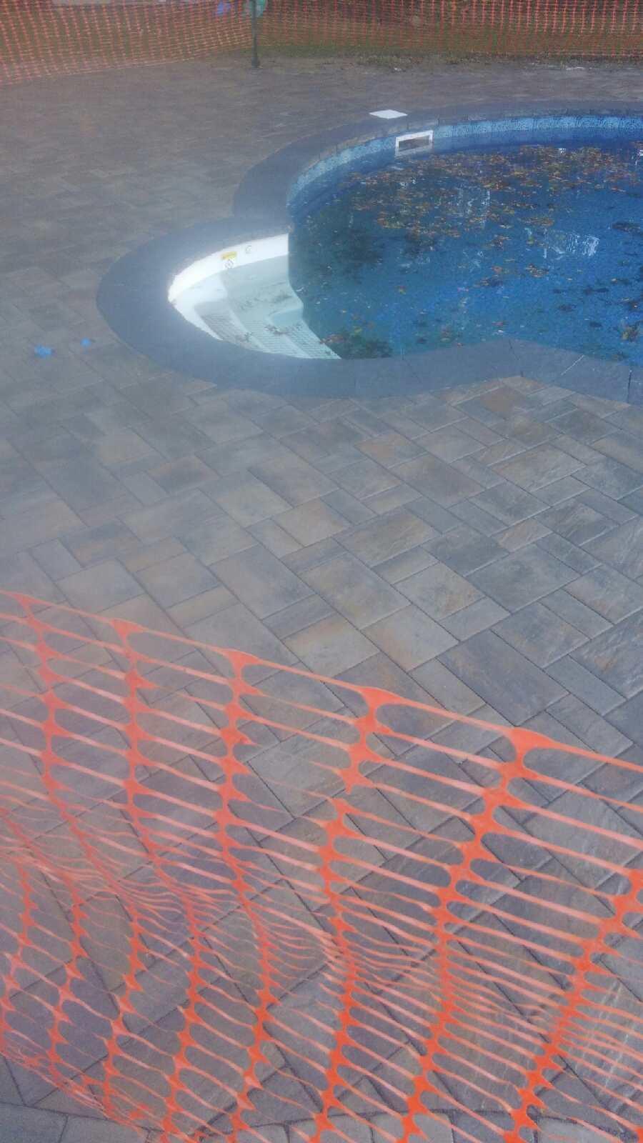 Paver Stone Pool Patio