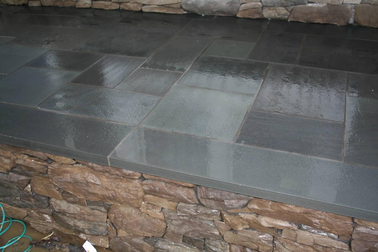 Blue Stone Flooring Wall NJ