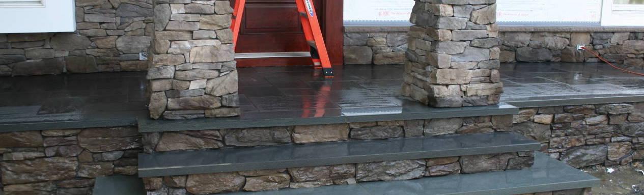 Custom Stone Stairs with Bluestone Porch