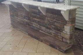 Outdoor Stone Kitchen Counter