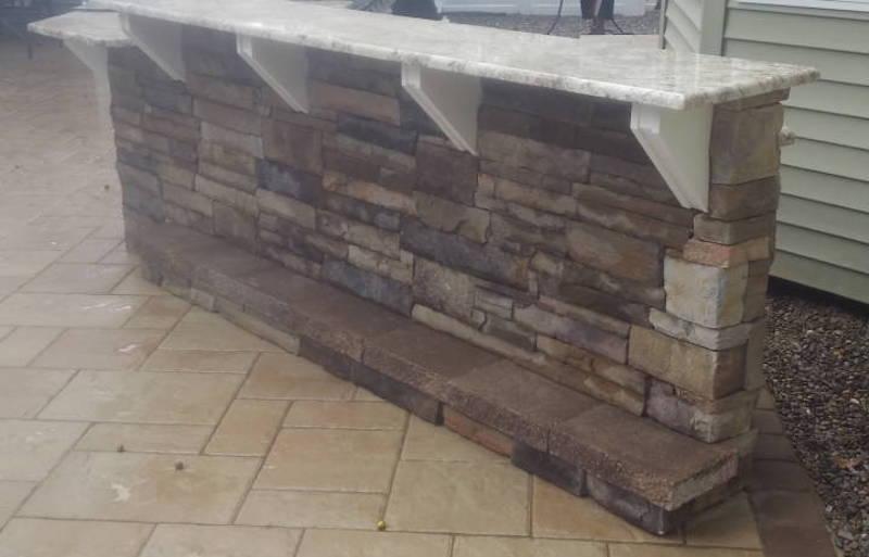 Outdoor Stone Kitchen Counter