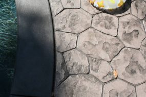 Stamped Concrete Random Stone Pattern Brielle NJ