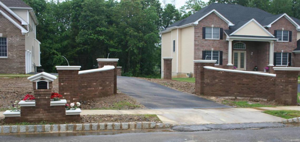 Brick Entrance Walls and Matching Mailbox