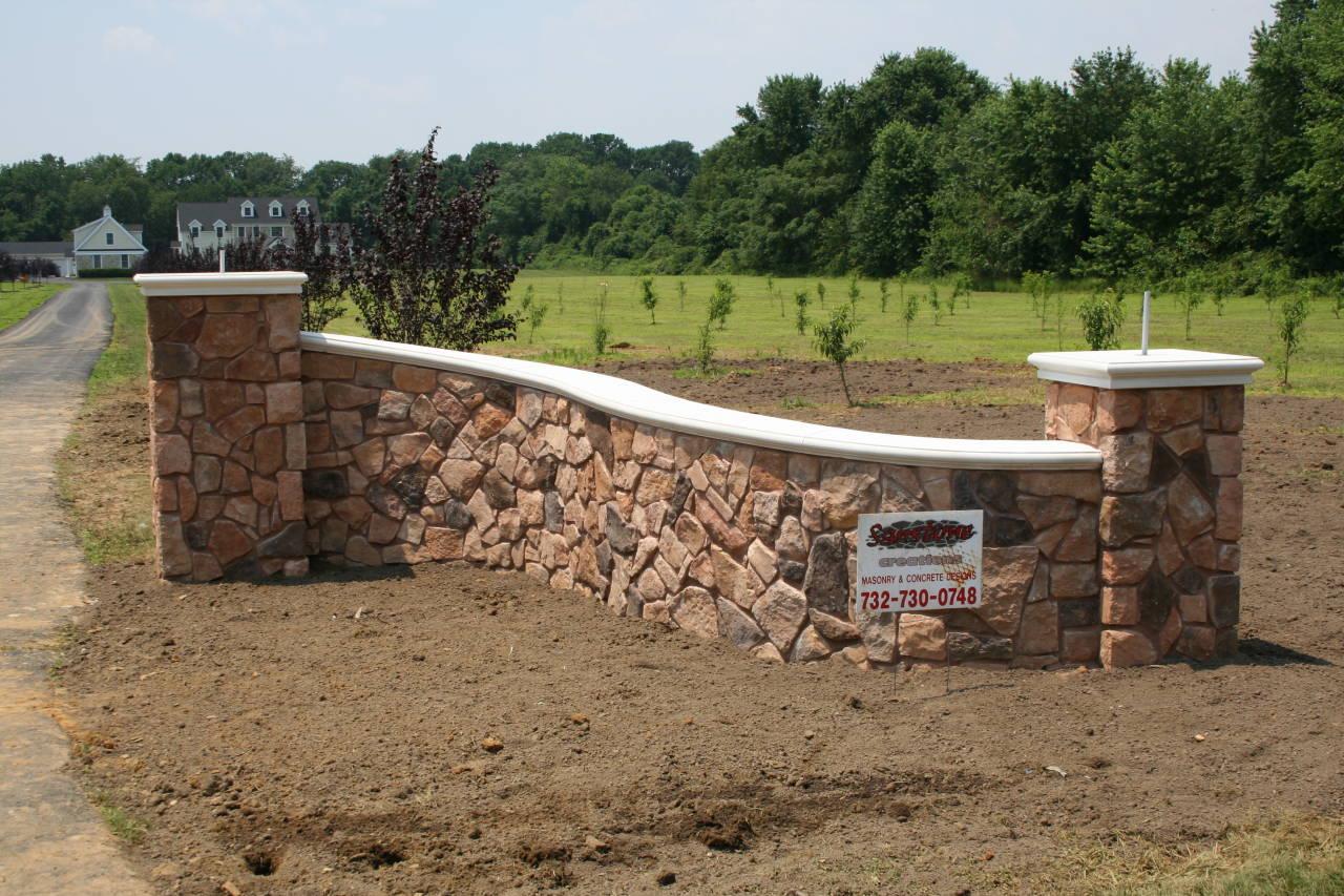 Driveway Stone Entrance Wall by Sanstone