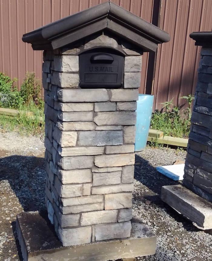 Grey Stone Mailbox near me