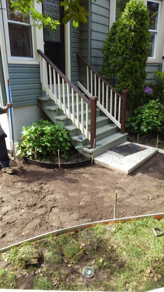 Stamped Concrete Walkway Installation Residential