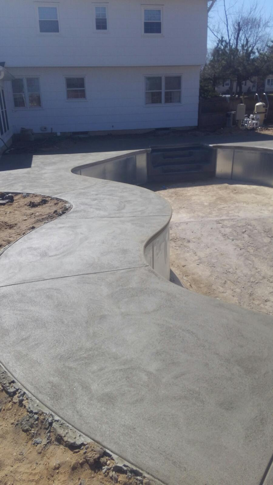 Concrete Pool Being Installed